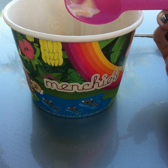 Photo taken at Menchie's Red Bug Village by Heather-lee on 4/26/2012