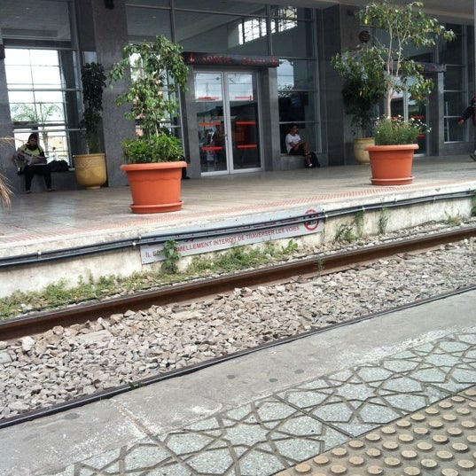 Photo taken at Gare de Mohammédia  محطة المحمدية by Meryem S. on 7/5/2012