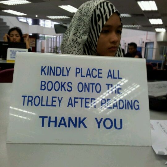 Photo taken at National Library (Perpustakaan Negara) by Zainal Adnan H. on 12/10/2011