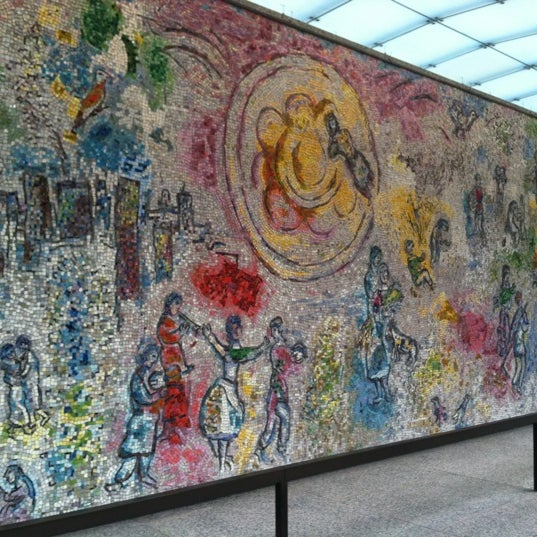 "Photo taken at Chagall Mosaic, ""The Four Seasons"" by Jason on 11/16/2011"