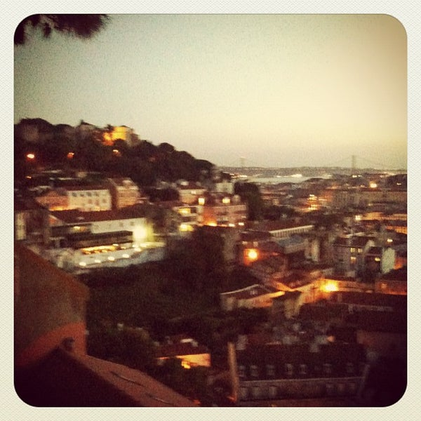 Photo taken at Miradouro da Graça by Luís P. on 5/24/2012