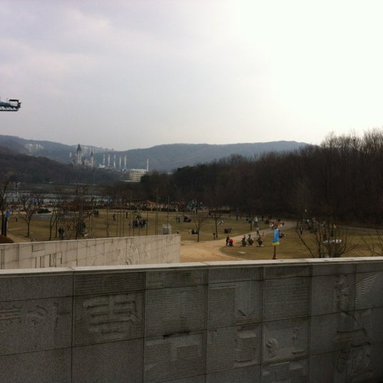 Photo taken at Yuldong Park by Jihoon C. on 4/11/2012