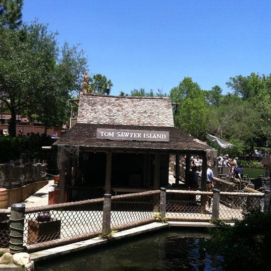 Photo taken at Frontierland by Amanda E. on 4/27/2012