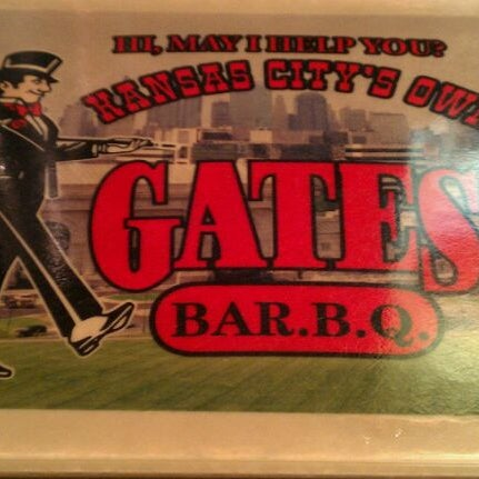 Photo taken at Gates Bar-B-Q by Aaron S. on 9/11/2011