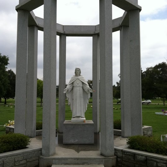 Photo taken at Oakdale Memorial Park and Mortuary by Frank M. on 4/23/2011