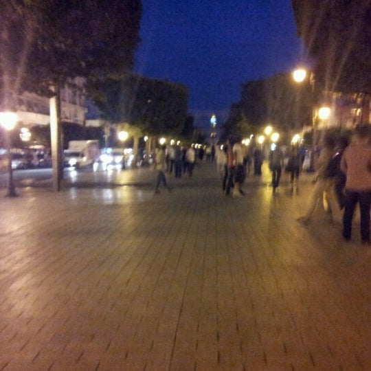 Photo taken at Avenue Habib Bourguiba by Mine Manphis on 7/2/2012