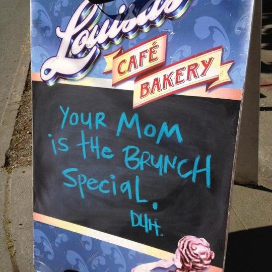 Photo taken at Louisa's Cafe & Bakery by Jenn P. on 5/13/2012