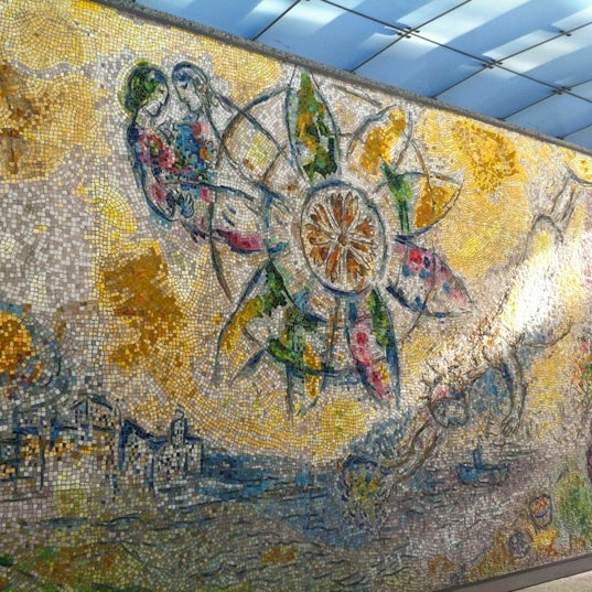 "Photo taken at Chagall Mosaic, ""The Four Seasons"" by Jasmine D. on 10/15/2011"