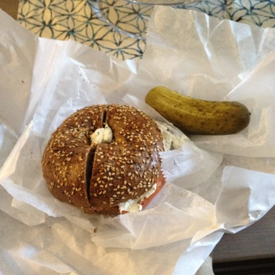 Photo taken at Murray's Bagels by Michael B. on 3/10/2012