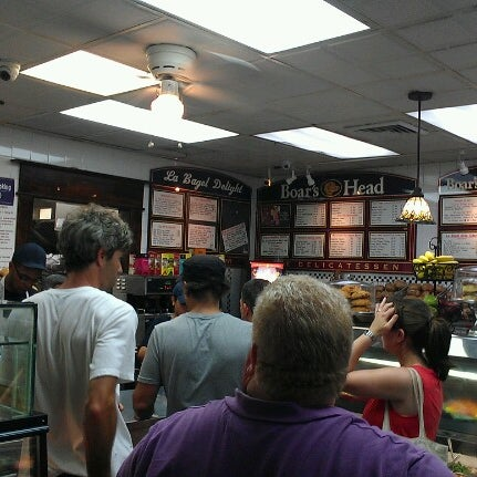Photo taken at La Bagel Delight by Angela G. on 8/10/2012
