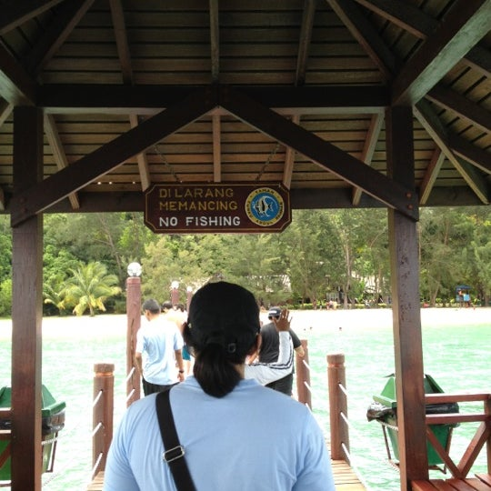Photo taken at Manukan Island Jetty by Azri M. on 6/11/2012