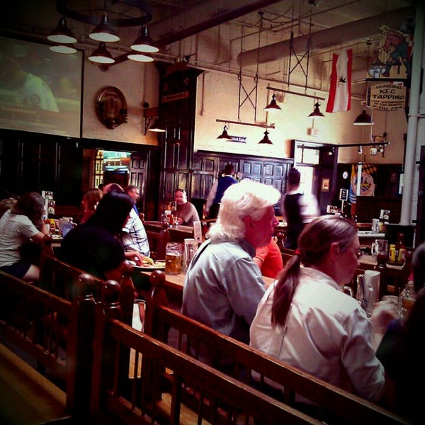Photo taken at Hofbräuhaus Newport by Jesse W. on 8/17/2011