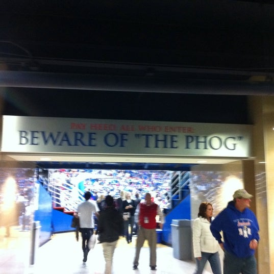 Photo taken at Allen Fieldhouse by Glen G. on 3/3/2011