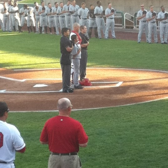 Photo taken at Brent Brown Ballpark by Crystal G. on 8/8/2012
