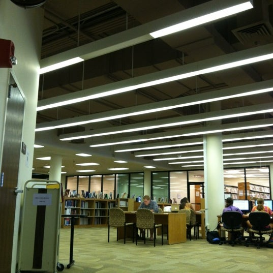 Photo taken at Carrier Library by Sarah T. on 9/4/2012