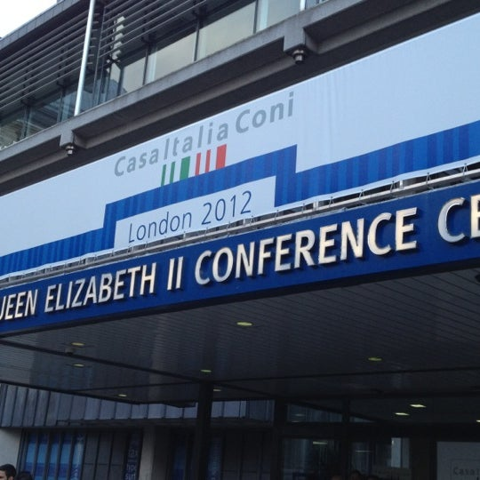 Photo taken at Queen Elizabeth II Conference Centre by Lorenza M. on 8/1/2012