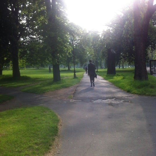 Photo taken at Clapham Common by Victoria K. on 5/23/2012