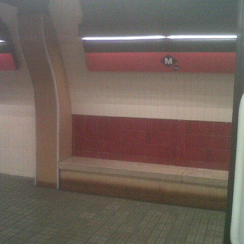 Photo taken at METRO Plaça de Sants by Eva G. on 7/10/2012