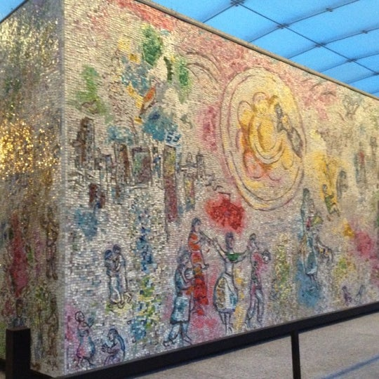 """Photo taken at Chagall Mosaic, """"The Four Seasons"""" by Janice L. on 7/13/2012"""