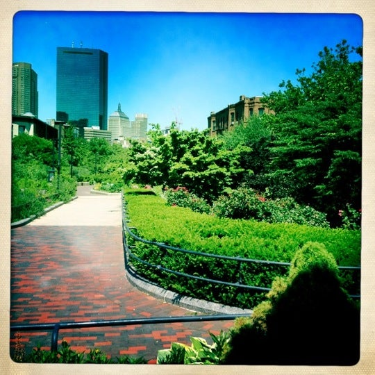 Photo taken at SW Corridor Park - Back Bay by Mandy L. on 6/15/2012
