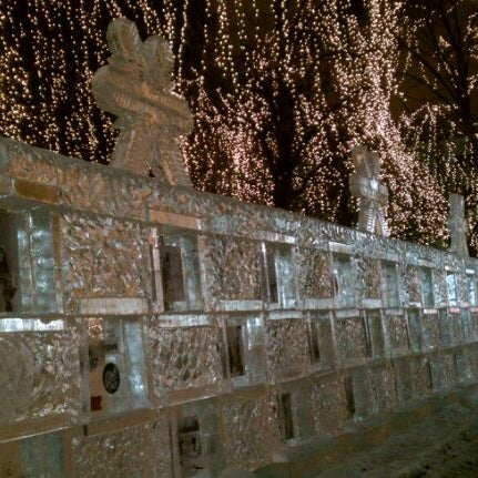 Photo taken at Rice Park by Joel T. on 1/25/2012