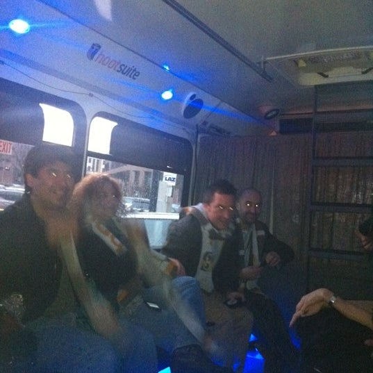 Photo taken at Hootsuite Bus by Anthony N. on 3/9/2012