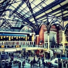 Photo taken at London Liverpool Street Railway Station (LST) by Teer'Zc M. on 2/29/2012
