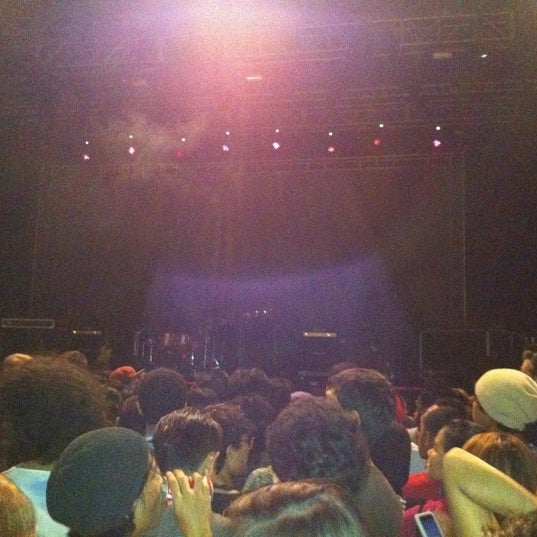 Photo taken at MGMT Live in KL @ Bukit Kiara Indoor Arena by Ritchie C. on 3/25/2011