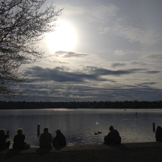 Photo taken at Green Lake Boathouse by Anna L. on 4/16/2012