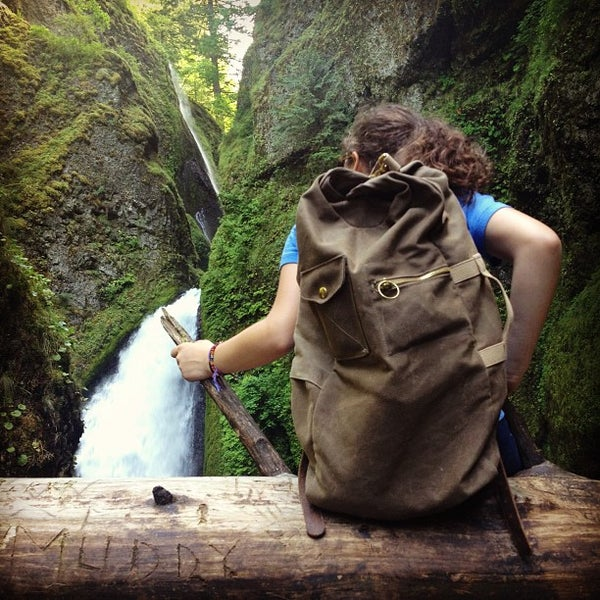 Photo taken at Wahclella Falls Trailhead by Jacob H. on 6/16/2012