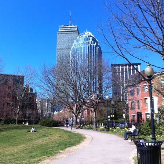 Photo taken at SW Corridor Park - Back Bay by Will J. on 3/21/2012