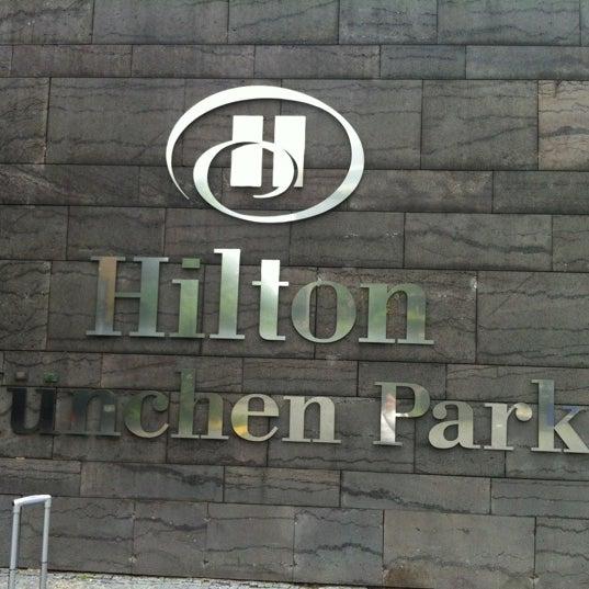 Photo taken at Hilton Munich Park by haynde on 7/13/2012