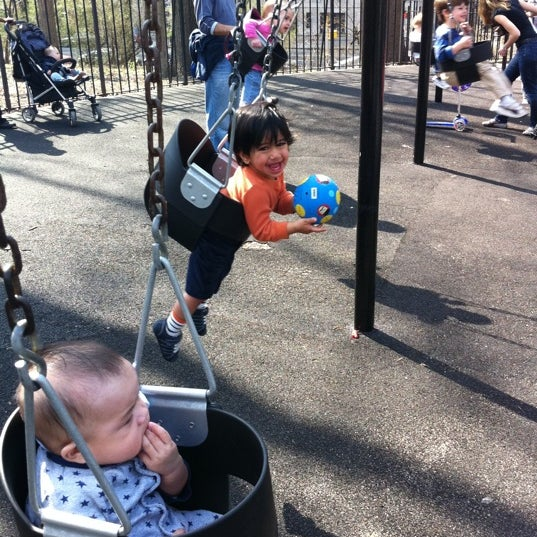 Photo taken at Central Park - Mariners' Gate Playground by Aurora A. on 4/11/2011