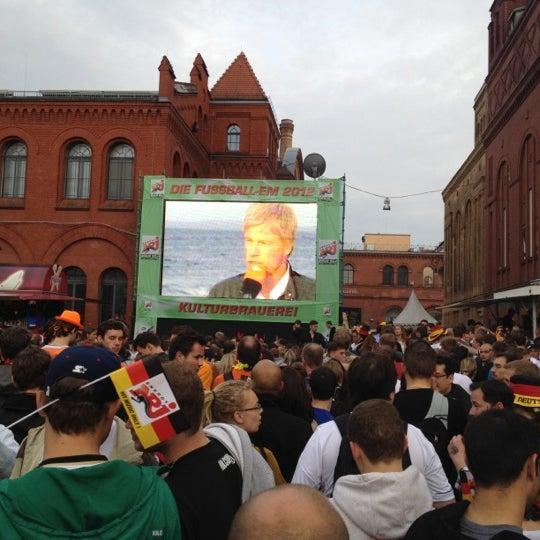 Photo taken at Kulturbrauerei by Kire D. on 6/13/2012