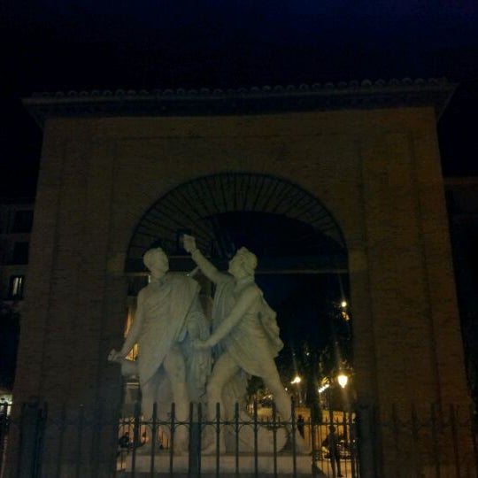 Photo taken at Plaza del Dos de Mayo by Sup on 9/27/2011