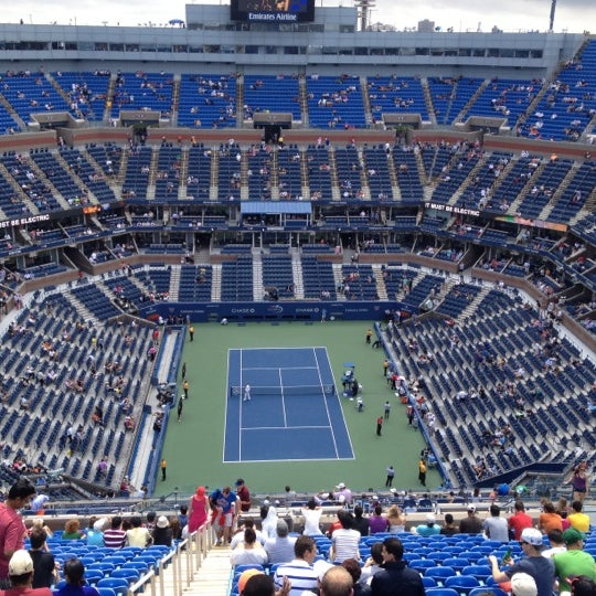 Photo taken at 2014 US Open Tennis Championships by Mickey C. on 9/8/2012