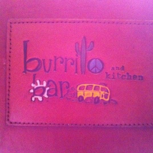 Photo taken at Burrito Bar & Kitchen by Susan . on 8/30/2011