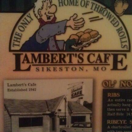 Photo taken at Lambert's Cafe by Linda R. on 3/30/2012