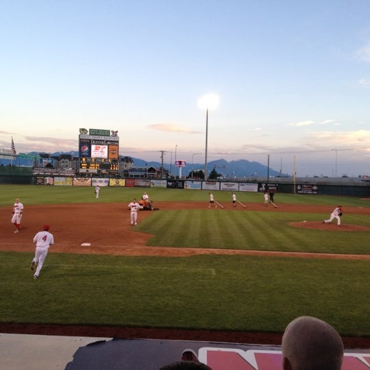 Photo taken at Home of the Owlz (Brent Brown Ballpark) by Rob on 7/24/2012