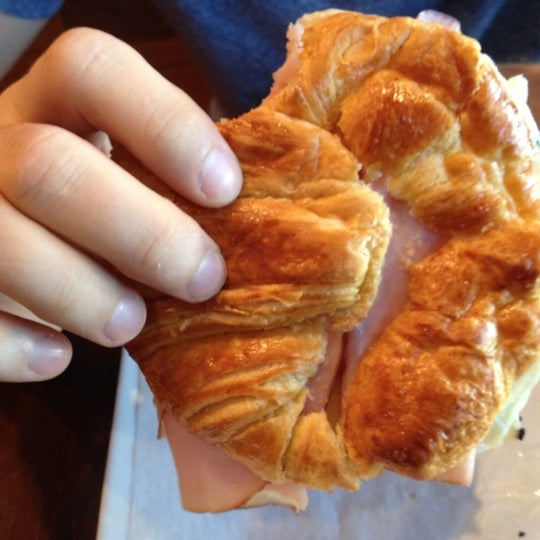Great ham and cheese croissant!
