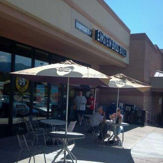 Photo taken at Einstein Bros Bagels by Cheryl M. on 9/18/2011