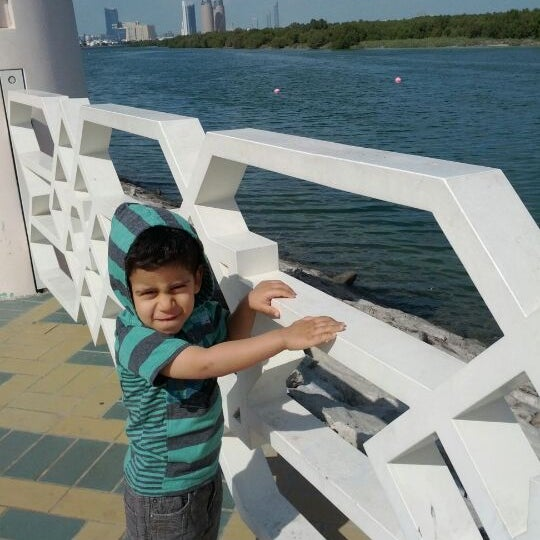 Photo taken at Eastern Mangroves Corniche by Zaid S. on 1/24/2012