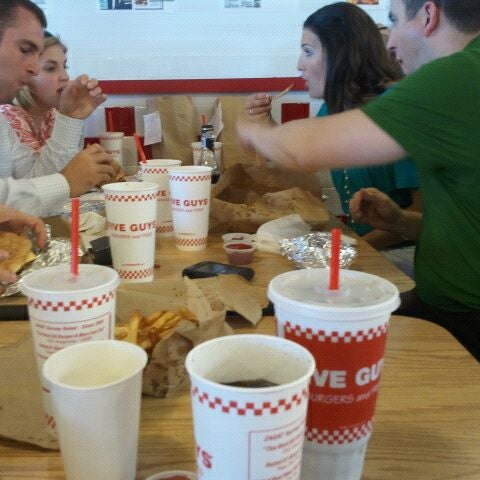 Photo taken at Five Guys by Julius S. on 9/13/2011