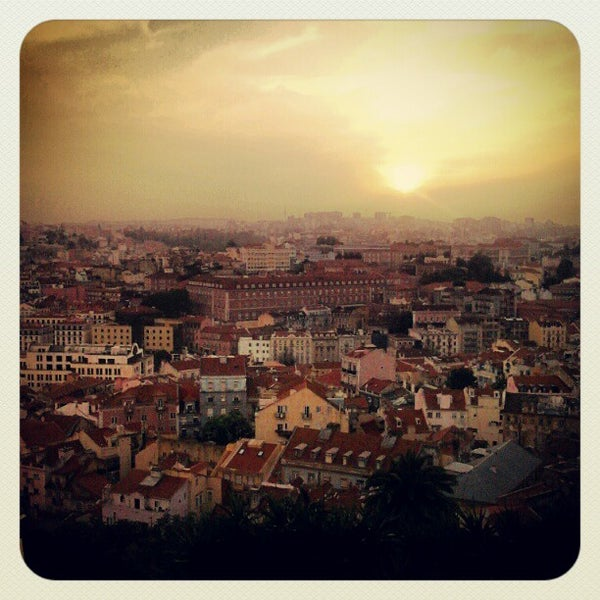 Photo taken at Miradouro da Graça by Flip B. on 5/17/2012