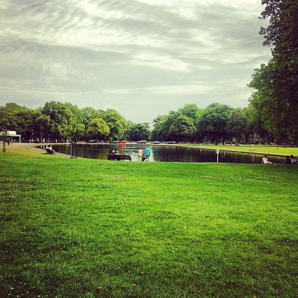 Photo taken at Clapham Common by Vitor P. on 8/19/2012