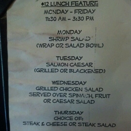 I never knew they offered these yummy filling lunch specials each weekday. Hooray! $12 gets you a lot of food.