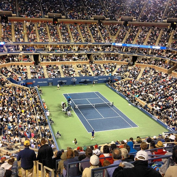 Photo taken at 2014 US Open Tennis Championships by Nihal M. on 9/11/2012