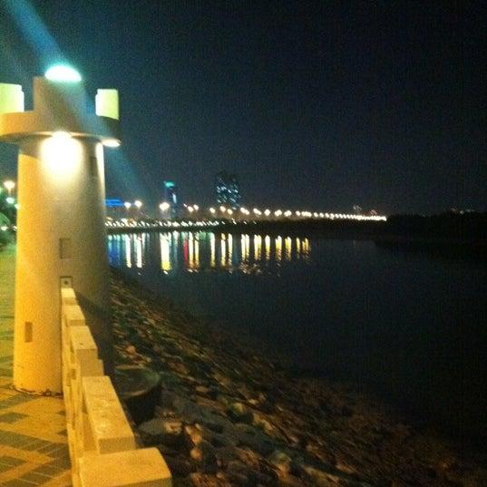 Photo taken at Corniche Al Gorm by Mohamed A. on 12/10/2011