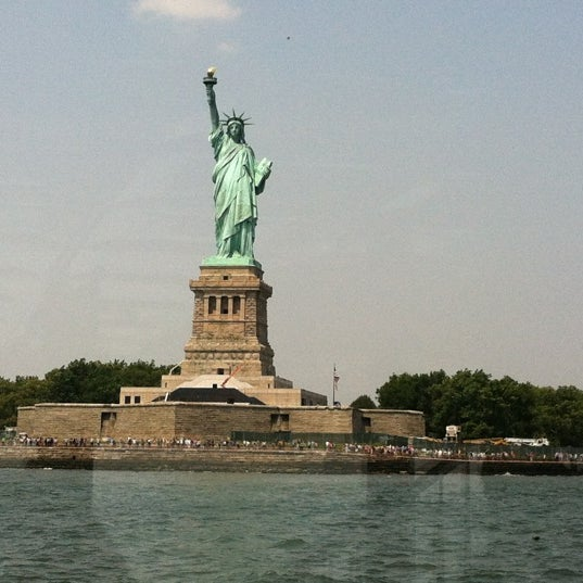 Photo taken at New York Harbor by Andrea L. on 8/17/2012