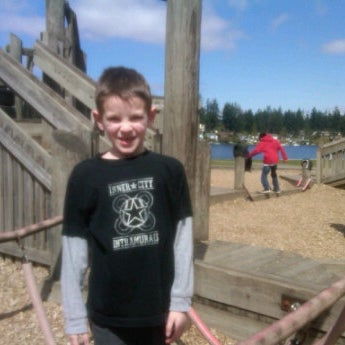 Photo taken at Steel Lake Park by Garret N. on 4/14/2012